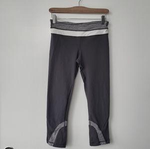 Lululemon Grey Run Inspire || Crop in Size 6